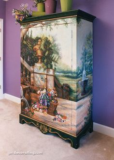 decoupage works from around the world - furnitures ~ katilbalina   decoupage pictures