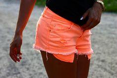 neon short shorts <3