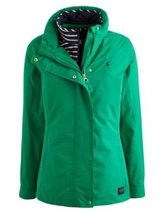 Joules Women's Three In One Jacket, Bright Green.                     Part of our Right as Rain collection this ready-for-anything 3-in-1 jacket is a true investment piece.  Wear the jacket or the inner striped gilet separately or for when a little more warmth is needed zip them together.  This jacket has taped seams and is PU coated making it 100% waterproof, it's breathable for comfort too.