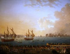 Le combat de la Martinique, vu par le peintre Rossel de Cercy