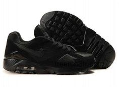 Danmark Billige Nike Air Max 180 Trainers Mænd - All Black Nike Heels, Nike Wedges, Nike Air Shoes, Air Max Sneakers, Sneakers Nike, Nike Air Max 2012, Nike Max, Air Max 180, Nike Air Max For Women