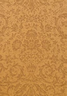 Medici #wallpaper in #metallic #gold from the Damask Resource 3 collection. #Thibaut