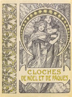 Cloches de Noël et de Pâques (Bells of Christmas and Easter), Alphonse Mucha, 1900