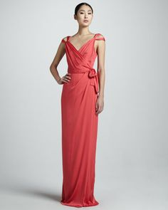 Celina Silk Wrap Gown by Raoul at Neiman Marcus.  This is my favorite...I might alter it just at the knee