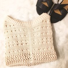 Crop Sweater Perfect condition!  Happy Poshing! (✖️ trade) Xhilaration Sweaters Crew & Scoop Necks