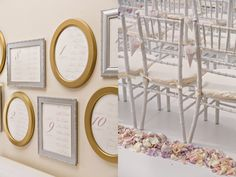 Great idea for each table, frame their names on the wall, clever!