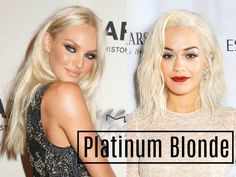 Top Trending Hair Colours and Hairstyles for 2016 - Platinum Blonde