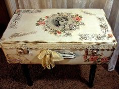 Victorian style upcycled suitcase
