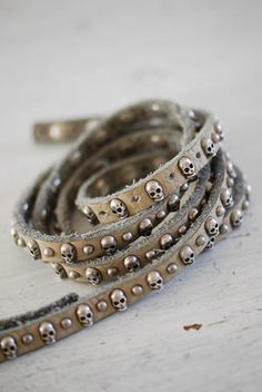 ★ Rock 'n' Roll Style ★ Biskopsgarden Skull Studded Belt