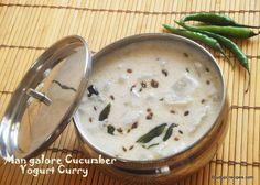 Mangalore Cucumber Yogurt Curry | Southe Kayi Majjige Huli Recipe - Udupi Recipes
