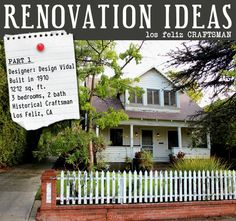 A behind the scenes look at one designer's historical Craftsman home project. Tune in for renovation tips and before/after photos. http://www.lampsplus.com/info-center/b/blog/archive/2012/05/04/renovation-ideas-for-a-historical-craftsman-with-design-vidal-part-1-before-pictures.aspx