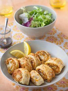 Photo de recette Feuilletés roulés au thon - Marmiton