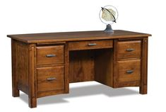 Lexington Solid Wood Executive Desk Luxurious executive desk. Crafted in Amish country. Built in the wood, finish and hardware of choice. Solid, sturdy and stunning solid wood office furniture.