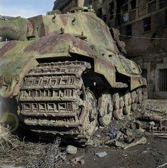 Tiger II in colour - Missing-Lynx Tiger Ii, Nagasaki, Hiroshima, War Thunder, Military Armor, Tiger Tank, Tank Destroyer, Model Tanks, Germany