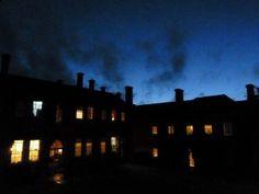 Evening views across the courtyard @ Lucknam Park Hotel & Spa near Bath, Wiltshire