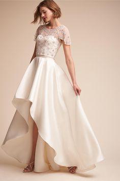 BHLDN Elianne Top Ivory in Bride   BHLDN