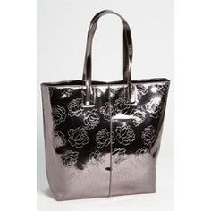 Betsy Johnson 24k Rose Pewter North and South Tote BH80720