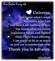Dear Universe. You know what I want. #loa