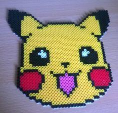 Pikachu Pokemom face perler beads by Szilvi