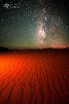 ~~Hand Painted Mystery Under The Stars ~ night scape of the Milky Way, Sand Dunes National Park, Alamosa, Colorado by Mike Berenson - Colorado Captures~~ All Nature, Amazing Nature, Science Nature, Beautiful World, Beautiful Places, Beautiful Pictures, Under The Stars, Night Skies, Alamosa Colorado