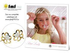 Pendiente en oro con perla natural (disponible en oro de 9K, 14K o 18K).   Gold Baby earrings with natural pearl (available in 9K, 14K and 18K gold). FMF Joyero 1950     #pendientes #oro #earrings #gold #accesories #fashion #baby #modainfantil
