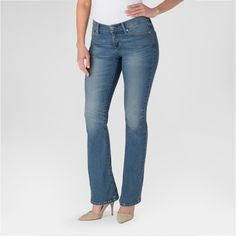 Denizen from Levi's Women's Curvy Boot Cut Jeans Blue Ice 10