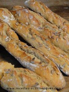 baguettes comme chez le boulanger (thermomix) | recettes economiques | Bloglovin'