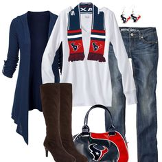 Houston Texans Fall Fashion - minus the boots...i would rather wear cute toms! ( or flip flops)