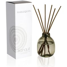 Harlequin Fragrance Diffuser - Tranquil ($50) ❤ liked on Polyvore featuring home, home decor, home fragrance, clear, fragrance reed diffuser, scented reed diffuser, fragrance diffuser and home scents