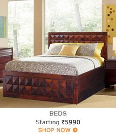 Beds - Rs.5990 Onwards - Click on Display images below to view images