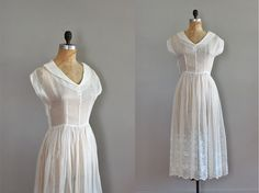 vintage 1940s White Sulphur Springs dress