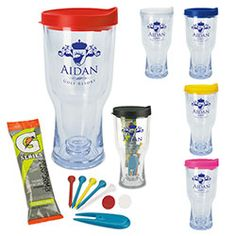 b025ad89dd Perfect for golf tournaments. capacity when filled to the rim. AS plastic  tumbler includes 2 tees, 2 ball markers, 1 divot tool, 1 Gatorade(R) packet