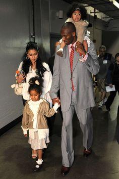 Kobe Bryant and family