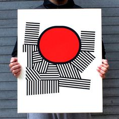 $250  Oblate with Stripes Print 18x24, $250, now featured on Fab.