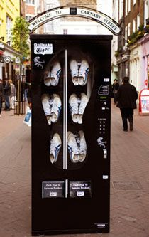 2009's Most Fashionable Vending Machines: Shoe Dispensing Hits UK Streets & Nightclubs    ---  from InventorSpot.com --- for the coolest new products and wackiest inventions.
