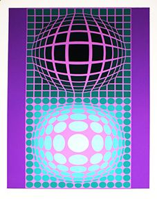Victor Vasarely, Oltar Zoeld available at #gallartcom
