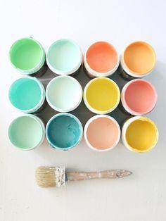 Love the color palette - mint, rose, mustard, teal.