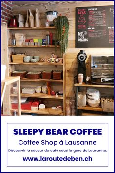 Situé sous la gare de Lausanne, le Sleepy Bear Coffee offre un moment de détente à tout les amoureux de café et de petite patisserie gourmande. #lausanne #suisse #vaud #café Sleepy Bear, Lausanne, Moment, Liquor, Coffee, Home Decor, Small Batch Baking, Almond Milk, Switzerland