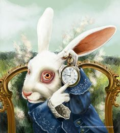 White Rabbit Art | the white rabbit by vampirekingdom fan art digital art painting ...