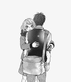 orange, takano ichigo, hug, manga couple