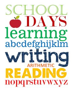 reading writing and arithmetic vinyl graphics
