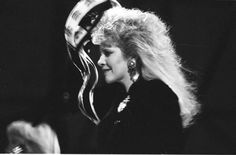 Stevie in profile with masses of hair and a tambourine    in Koblenz, Germany, 1988 during Fleetwood Mac's 'Tango In The Night' tour  ~   ☆♥❤♥☆  ~    http://goldduststevie.tumblr.com/page/22