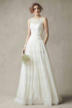 Melissa Sweet Sleeveless Wedding Dress with Tulle