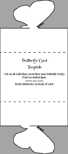 Butterfly template - use with any cardstock.
