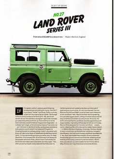 Land Rover Series III. Love the colour!