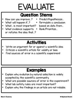 Bloom's Taxonomy: Question Stems | Questioning | Pinterest | Stems ...