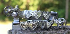 Lady Cowgirl Western Spurs Stainless Steel Hearts German Silver Horse Show Tack