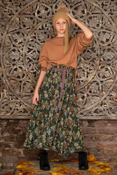 Monster S, Autumn Garden, Midi Skirt, Fall Winter, Floral, Skirts, Fashion, Florals, Moda
