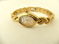 Waltham Gold Tone Mop Diamond Quartz Ladies Watch by ediesbest, $12.95