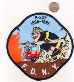 FIRE PATCH NEW YORK CITY FDNY ENGINE 237 100 ANNIVERSARY 1895 – 1995